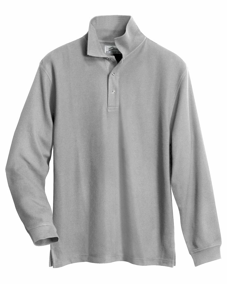 Mens Long Sleeve Easy Care Knit Shirt. Tri mountain 615 #LongSleeve #KnitShirt #Trimountain  #Menswear #men