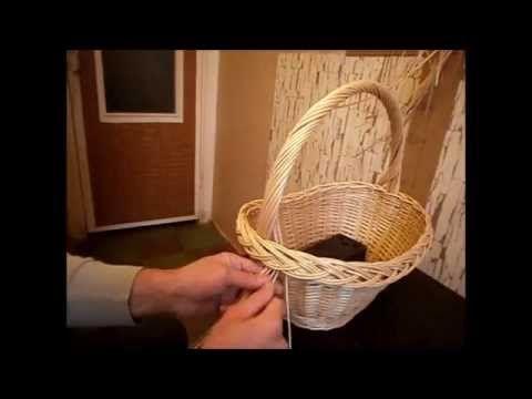 Плетение корзины- делаем ручку - Basket Weaving