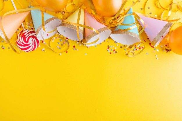 Birthday Party Background On Yellow In 2020 Birthday Party