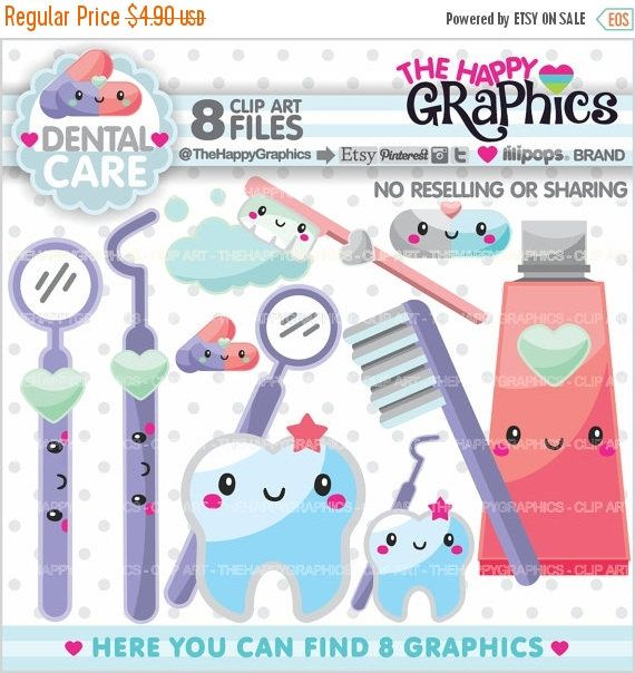 80%OFF - BIG SALE Dentist Clipart, Dentist Graphics, Commercial Use, Kawaii Clipart, Dental Care Clipart, Planner Accessories, Tooth Clipart