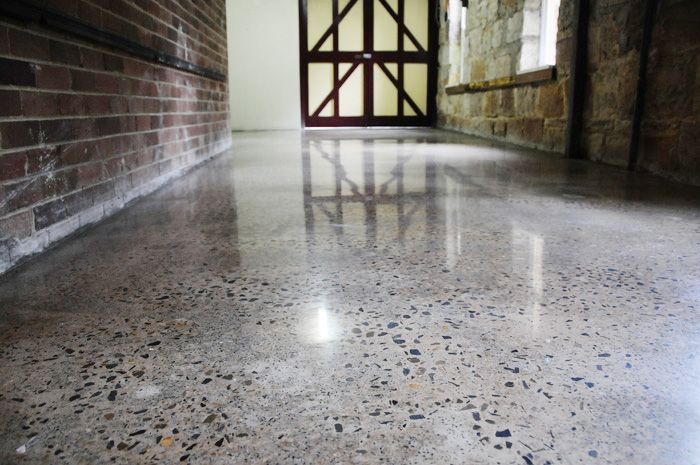polished concrete floors, exposed aggregate *love*