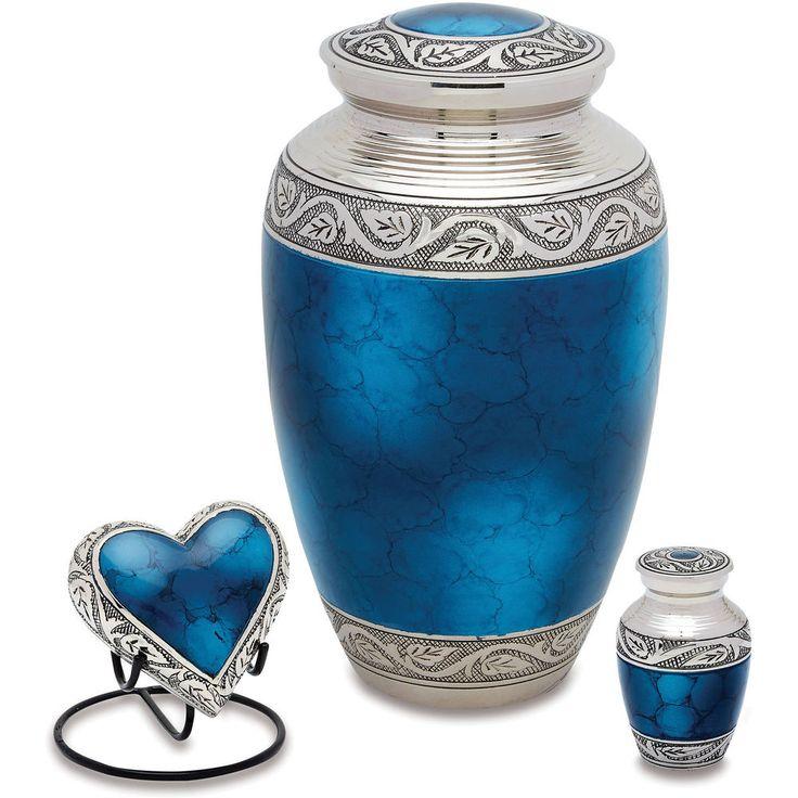 Urns Direct 2U Grecian Blue Cremation Urn Set #UrnsDirect2U