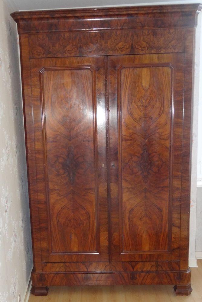 armoire rustique ,style Louis Philippe ,loupe de noyer,très bon etat