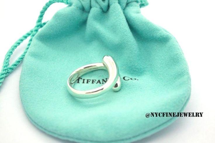 Authentic Tiffany & Co Silver Elsa Peretti Tear-Drop Ring Tear Drop Ring Size 7 #TiffanyCo