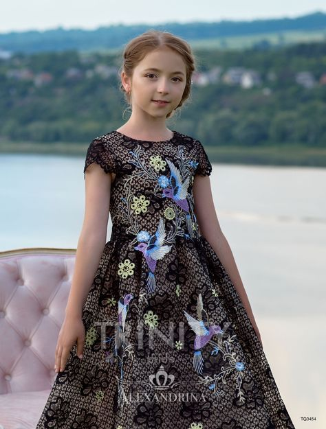 cc002bf49 Flower black Girl Dress - Birthday Wedding Party Holiday Bridesmaid  Communion Lace Tulle #flowergirldresses #flowergirldress #pageantdress  #princessdress ...