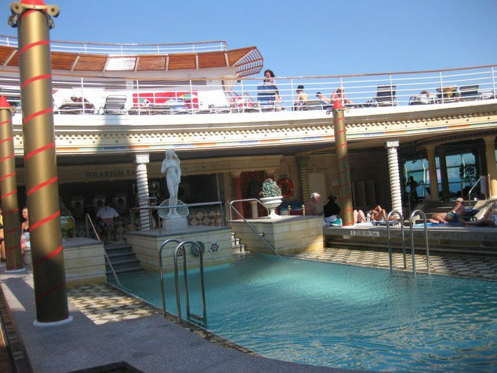 Only Adult Pool On Navigator Of The Seas  Mediterranean Cruise  Royal Carib