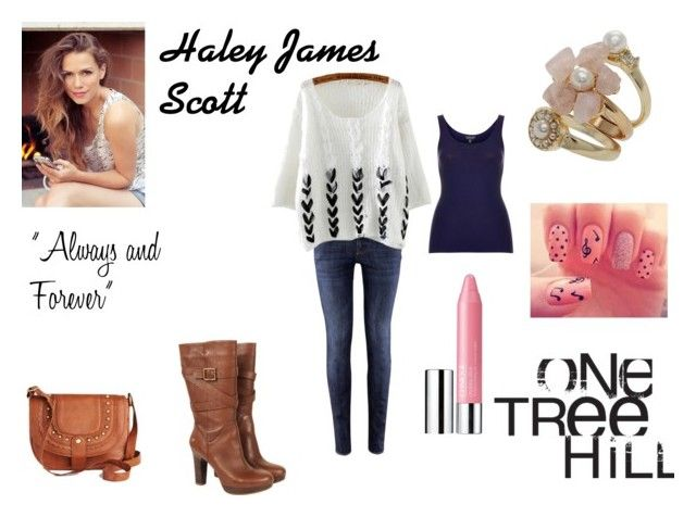 One Tree Hill - Haley James Scott by emily-dickson-1 on Polyvore featuring Topshop, H&M, UGG Australia and Clinique