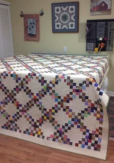 Leaders & Enders quilt.  Love the wall-hanging also!
