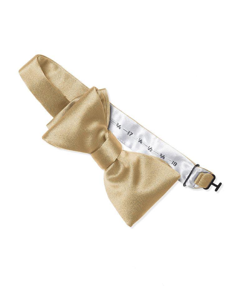 Dessy Venetian Gold Matte Satin Bow Tie