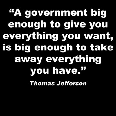 Thomas Jefferson - Thoughts on welfare, anyone?