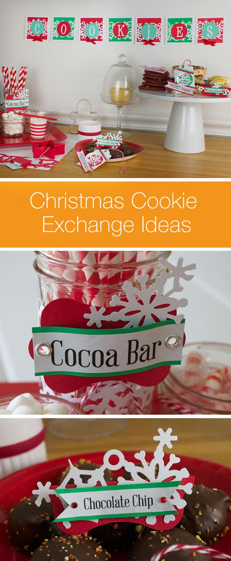 Host a holiday cookie party this year with some delicious decorations! Our DIY Christmas décor adds just the right amount of Christmas cheer to this sweet idea. Create name tags, awards and more with just a few craft tools and materials. Click in for instructions.