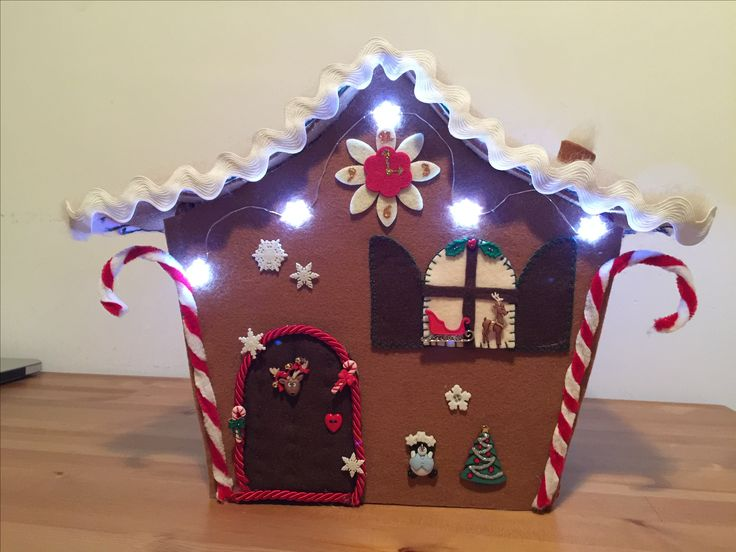 Christmas felted decoration: gingerbread home ❤️