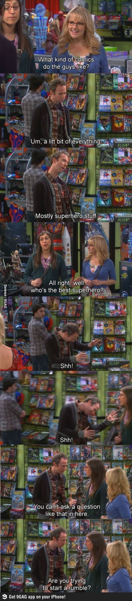 """""""Are you trying to start a rumble?!"""" Stewart, The Big Bang Theory"""