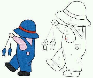 Collection of Sunbonnet Sue and Overall Sam patterns.