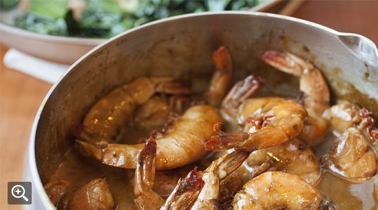 Barbecued Shrimp with Greens from Mike Lata (FIG and The Ordinary in Charleston)