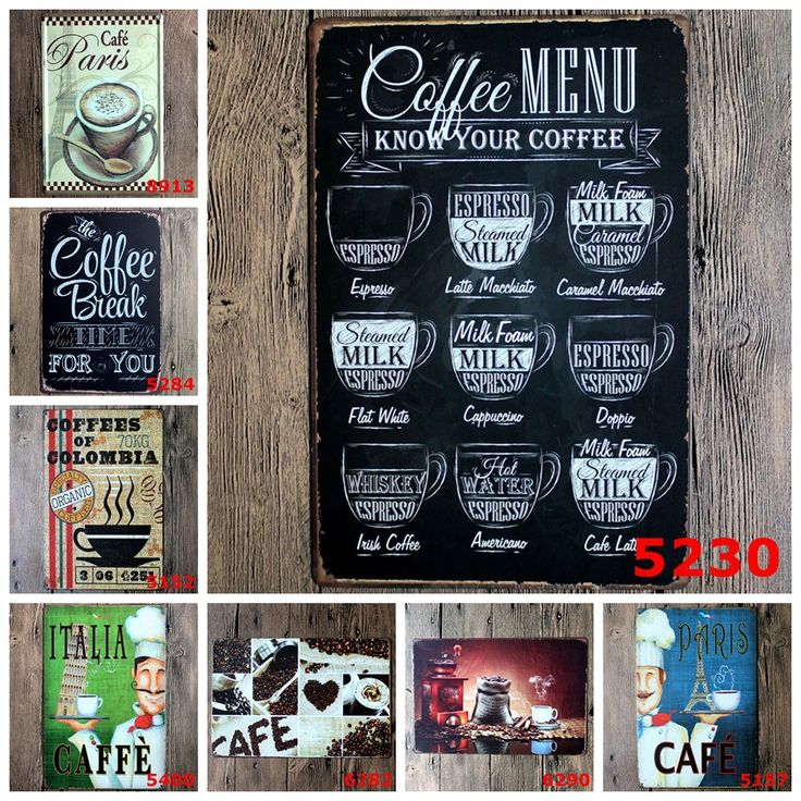 Retro Hot Coffee Metal Tin Sign Caffe Open Signage Home Decor Wall Art Painting Plaque Vintage Cafe Shop Decorative Metal Sign