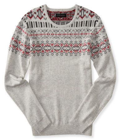 Trust a warm, toasty layer like our Fair Isle Crew-Neck Sweater to get you through the chilly day!