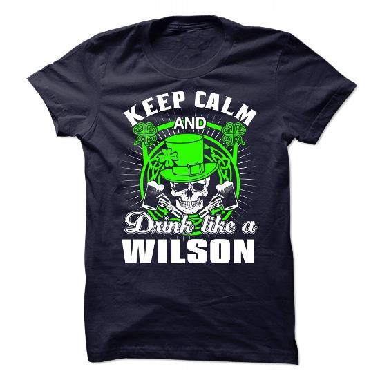 Awesome Tee Drink like a WILSON - St.Patricks day T shirts