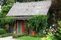 Love how the Wisteria softens the shed.: Backyard Cottages, Gardens Ideas, Backyard Ideas, Backyard Houses, Life Magazines, Backyard Retreat, Guest Houses, Gardens Sheds, Gardens Cottages