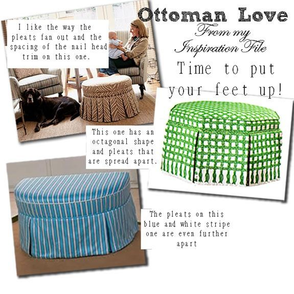 Make your own ottoman The tutorial is here:  http://inmyownstyle.com/2011/03/how-to-make-a-no-sew-round-ottomanpart-1.html