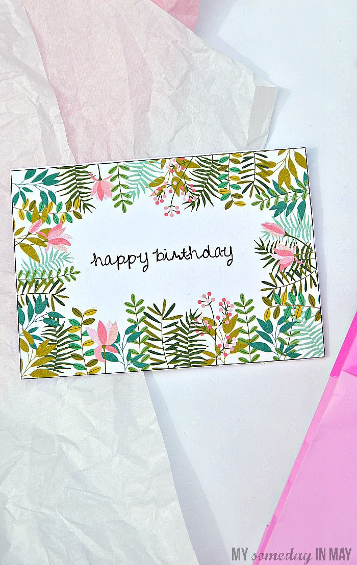My Someday in May: Free Birthday Card