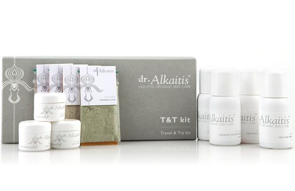 Love organic skin care or know someone who does? Treat them to the new Dr. Alkaitis Travel and Try Kit from Effortless Skin.