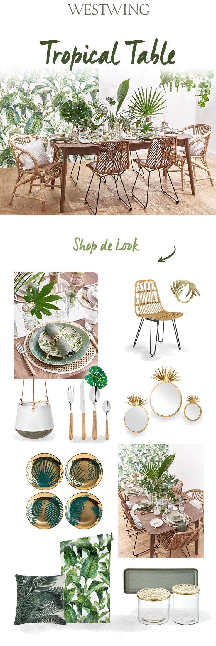 Tropical Table Tropische Decoratie Interieur Woonkamer Tuinfeest