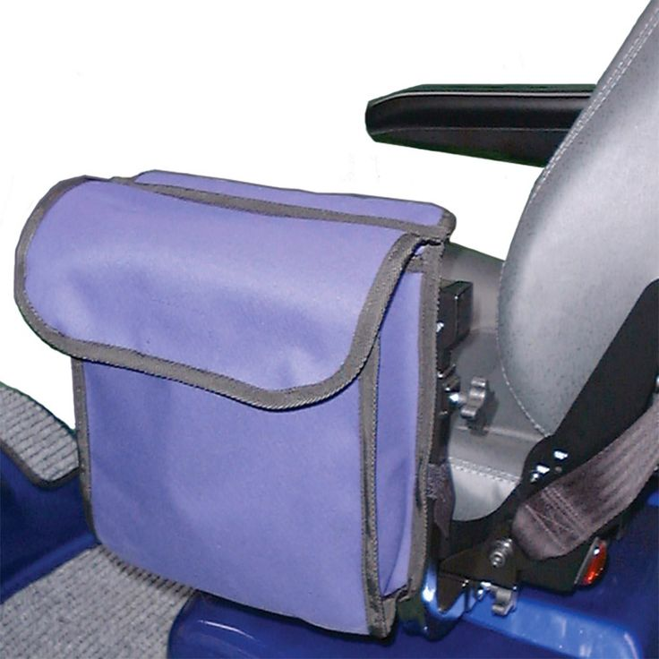 A useful side bag for wheelchairs or mobility scooters, available in three stylish colours.