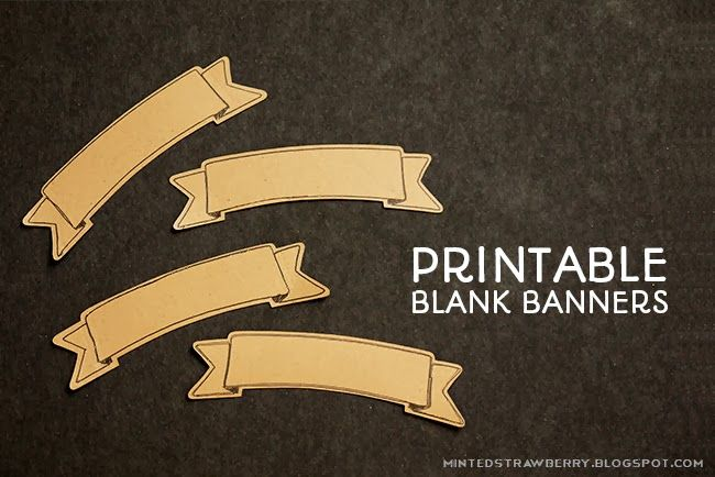 Free Printable: Blank Banner with free Silhouette Cut File