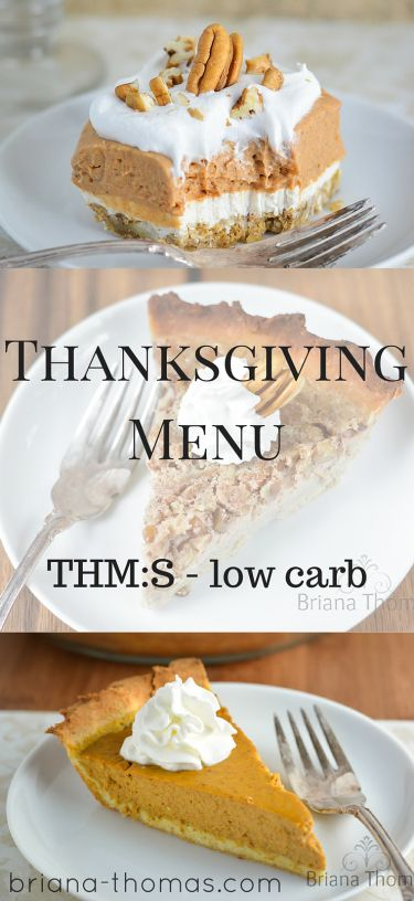 A Trim Healthy Thanksgiving Menu...low carb, THM:S