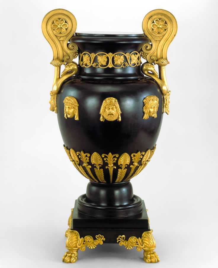 Greek krater-style copper vase patinated to imitate bronze, designed by Thomas Hope, England, 1802-03. / Victoria and Albert Museum