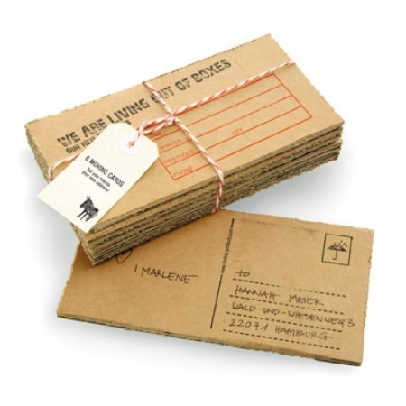 Living Out Of Boxes Moving Cards: A funny and creative way to let friends and family know you have moved.
