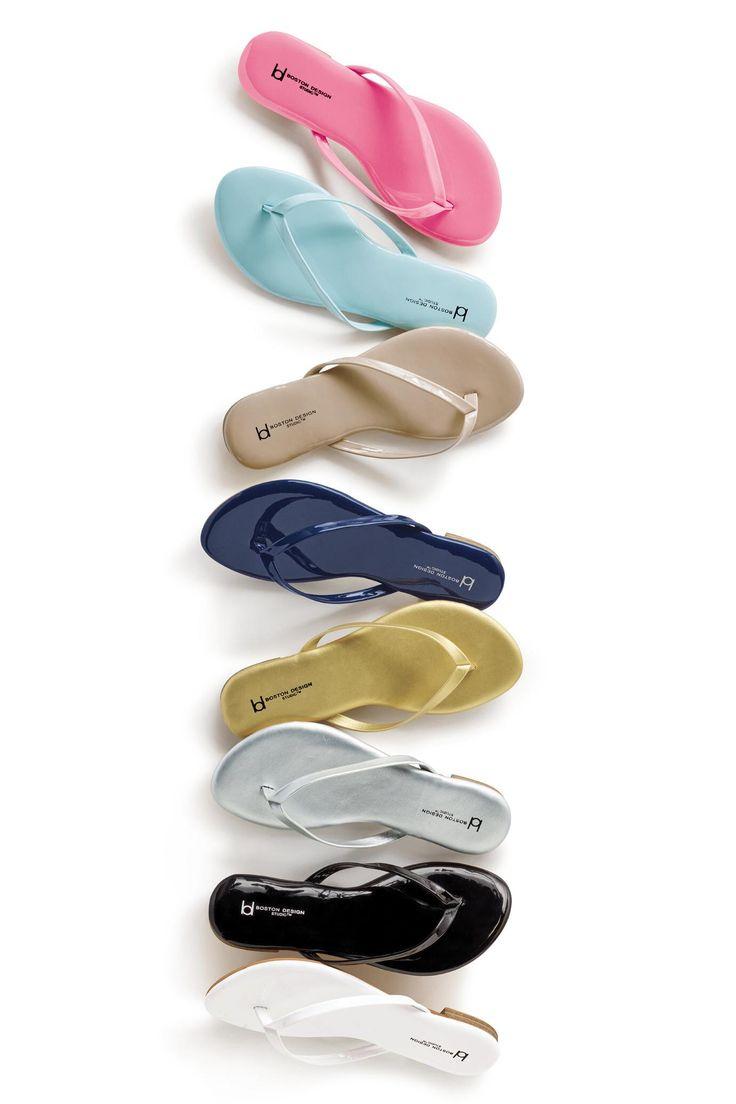 Flat Thong Sandals By Boston Design Studio