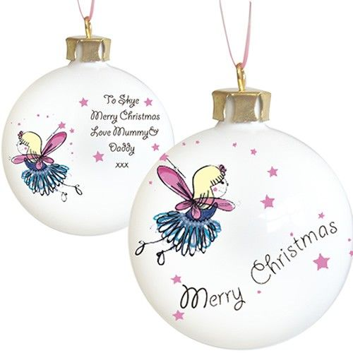 Personalised Funky Fairy Christmas Bauble  from Personalised Gifts Shop - ONLY £9.99