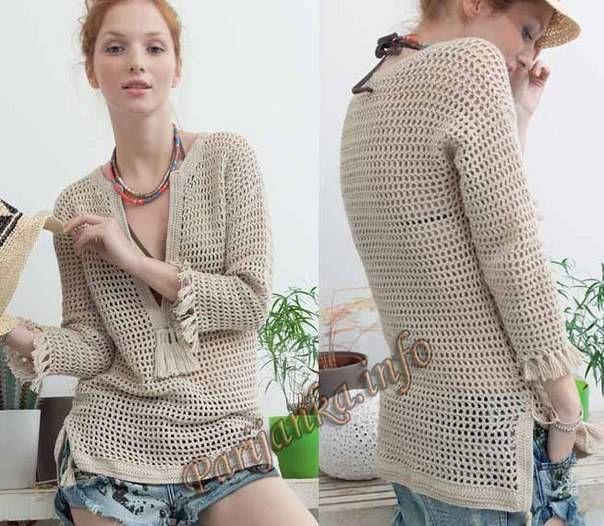 Croche e trico da Fri, Fri´s crochet and tricot. Blusa muy linda y super fácil de tejer. Diagrama de punto