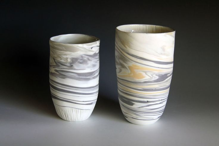Striation Collection  Porcelain marbled clay  http://www.rediscovering.com.au/portfolio-of-work/#/marbled-porcelain-striation-collection/