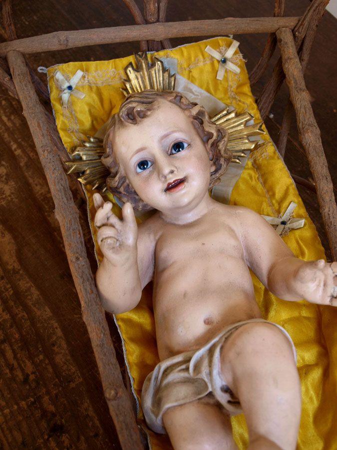 Etsy のInfant Child Jesus Niño Christ Glass Eyes Nativity Christmas Spain Antique Religious /442(ショップ名:GliciniaANTIC)