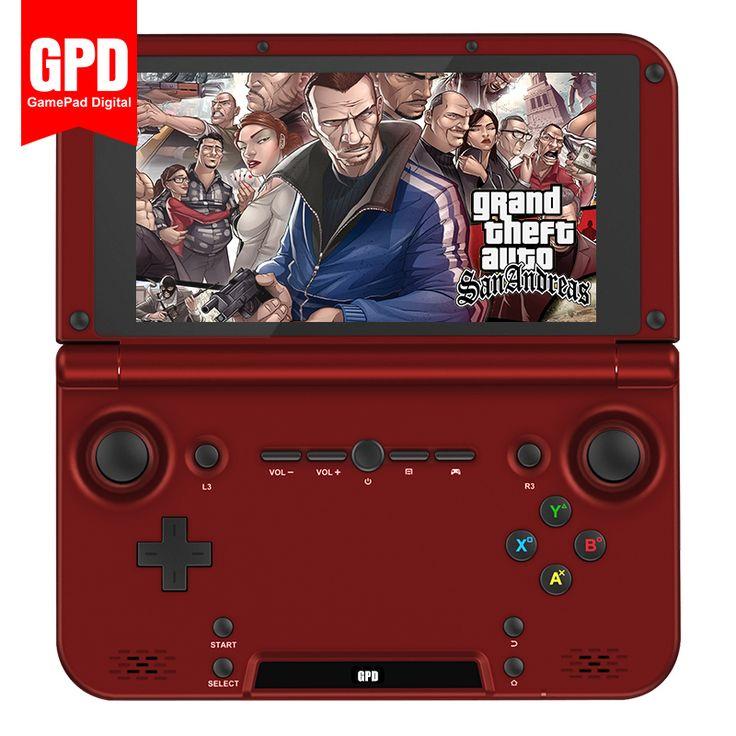 Gpd xd rk3288 رباعية النواة 2 جرام/64 جرام 5' H-IPS شاشة الروبوت mini laptop يده لعبة لاعب الفيديو ألعاب (الأحمر)