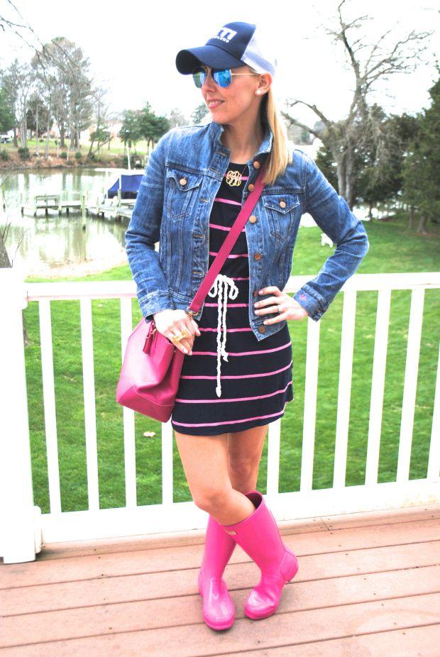 Cute rain boots outfit