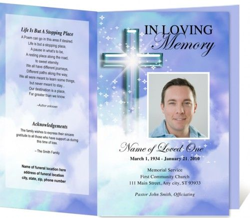 33 best Funeral Template images on Pinterest Program template