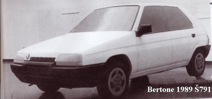 OG | 1992 Škoda 791 - Favorit | Facelift proposal designed by Bertone in 1989