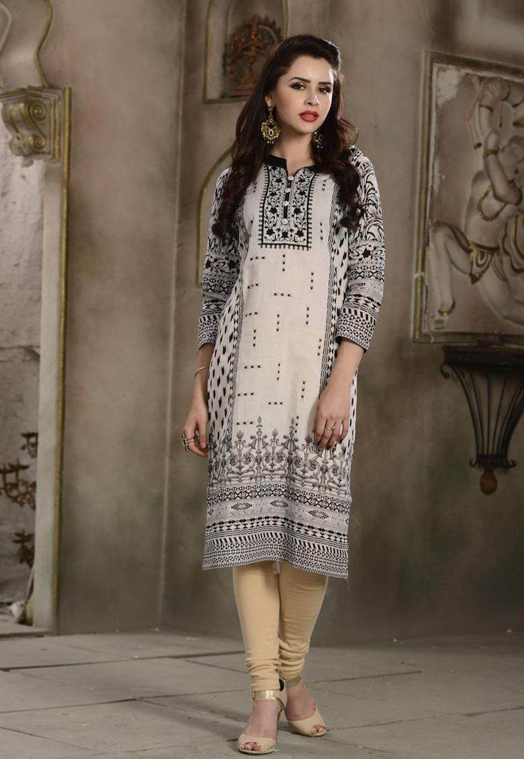 #White #Cambric #Cotton #Kurti.  White Cambric Cotton Kurti.Product colour & Patch Patta.  INR: 797.00  With Exclusive Discounts  Grab:http://tinyurl.com/gmmwlf3