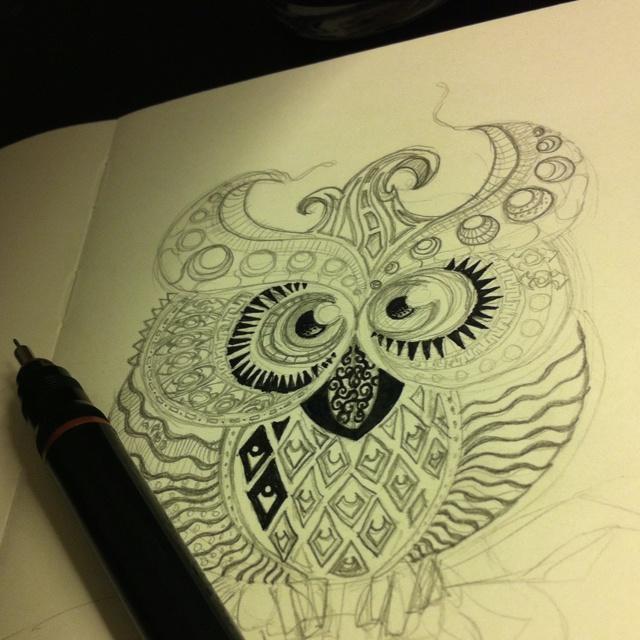 On my owl.