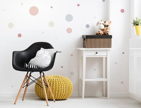 """What-10376 children wall decoration """"circles pastel shades"""""""