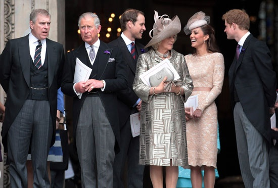 Royalty at the Diamond Jubilee service