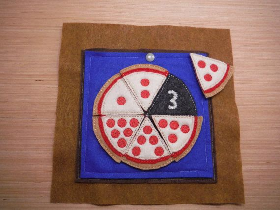 Pizza Number Match with pocket Quiet Book by BusyBookBuilders
