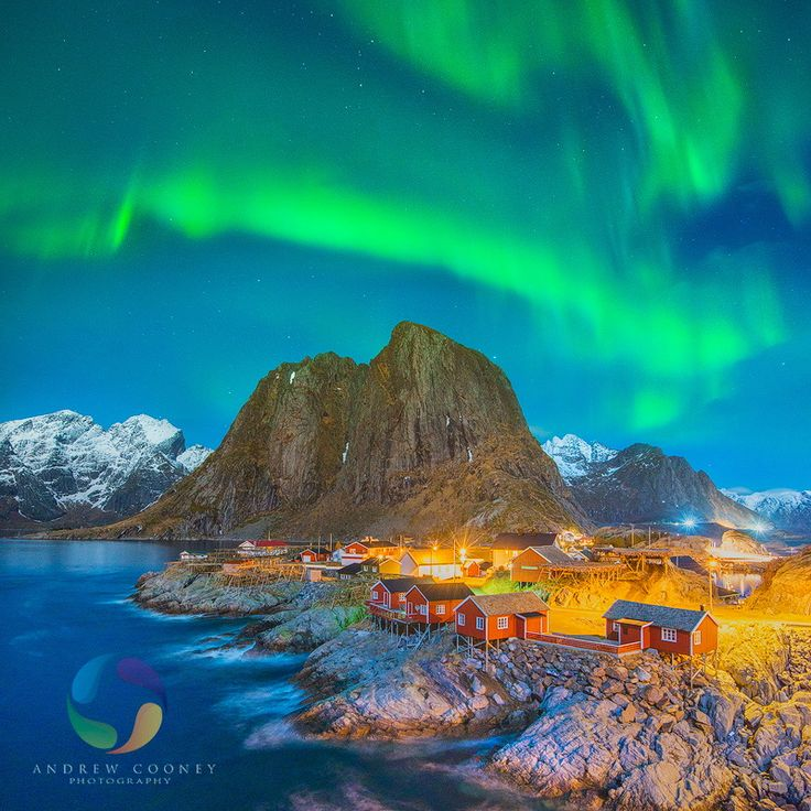 Lights over Reine by Andrew Cooney on 500px