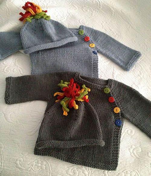 Puerperium Cardigan - Free Pattern. Knit top down (1 piece).