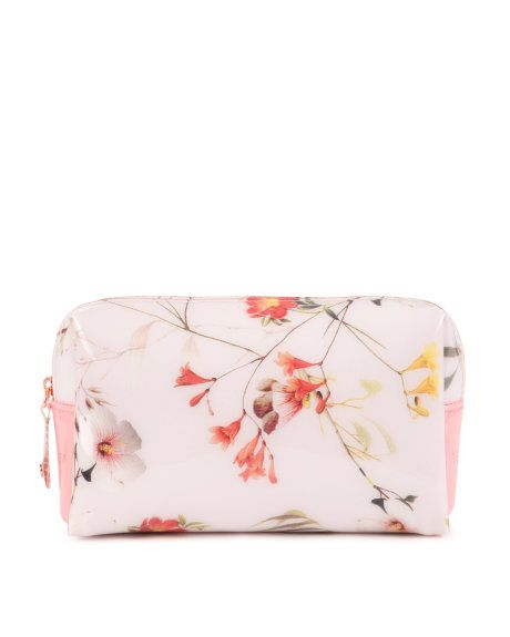 Small botanical bloom cosmetic case - Pale Pink | Gifts for Her | Ted Baker