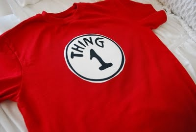 Fussy Monkey Business: Dr. Seuss' Thing 1 & Thing 2 Shirts - how to make